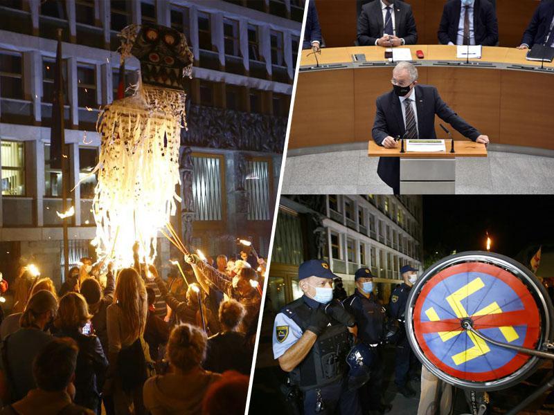 Hojs iz parlamenta odšel neodstavljen, sramota obrambe ustaštva in nenačelnosti - ostala