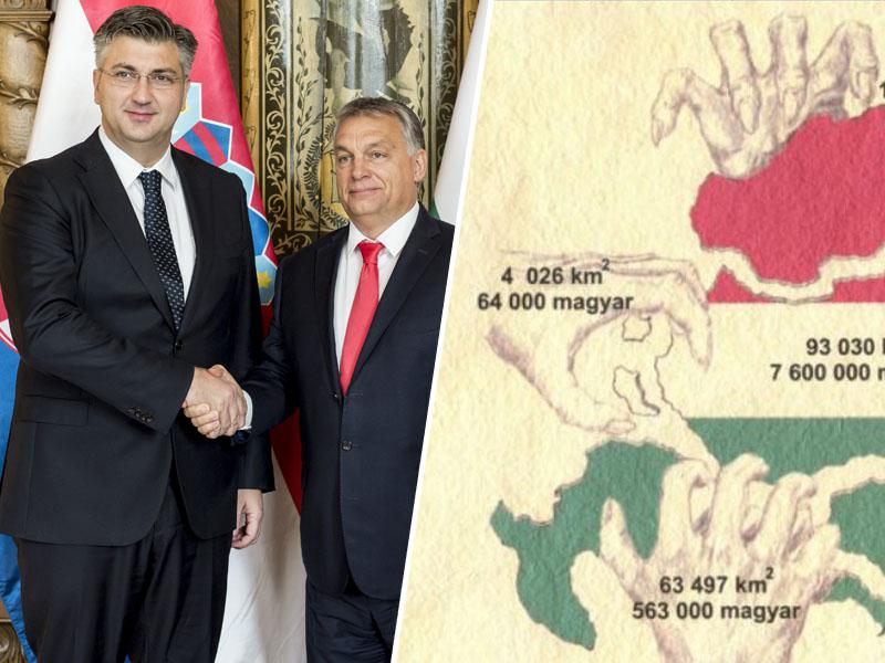 Hrvaška vlada žuga Italiji, molči pa pred žalitvami in ozemeljskimi pretenzijami iz Madžarske