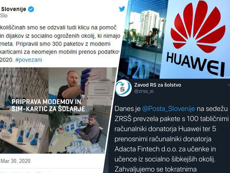 Družbeno odgovorno: Kitajski Huawei doniral modeme in tablice v pomoč šolarjem in gospodinjstvom v Sloveniji