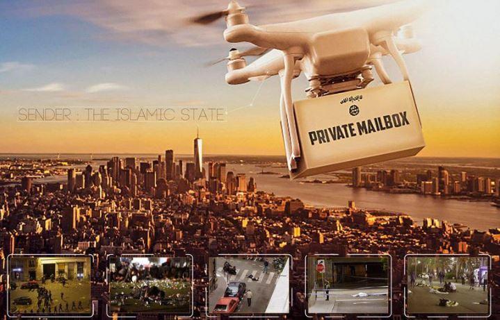 Islamska država z novim posterjem grozi s terorističnimi napadi z brezpilotniki v ZDA in Evropi