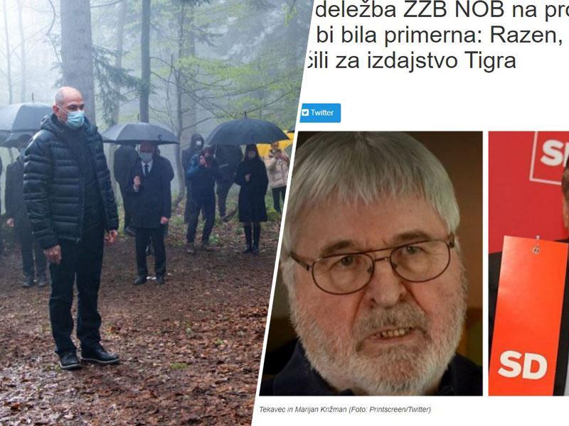 Kako je Pahor pomagal Janši pri sramotenju NOB na podlagi lažnega »izdajstva Tigra«
