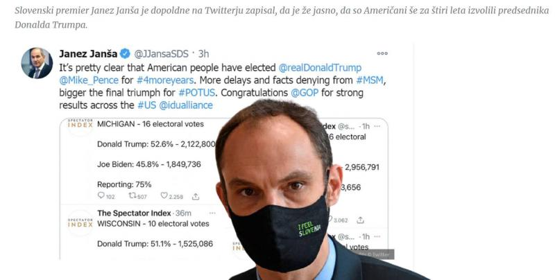 Nosi Logar masko ali nagobčnik? Zunanji minister si ne upa kritrizirati Janše niti tedaj, ko sramoti Slovenijo