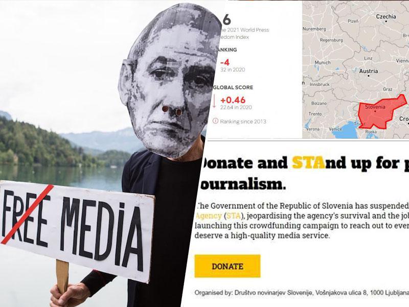 Svoboda medijev: Slovenija po lestvici navzdol, STA se bori za obstanek, Julian Assange pa znova pozabljen