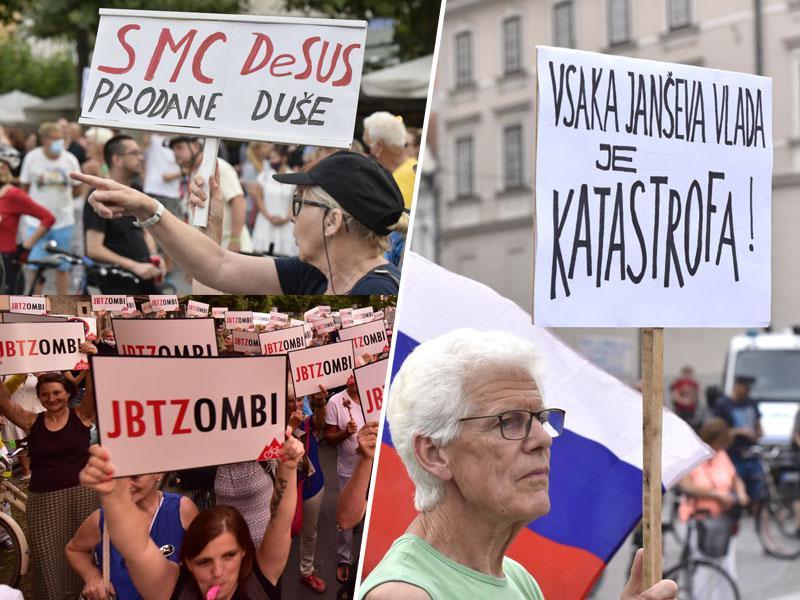 Protestniki spomnili na premagano strahovlado iz leta 1988 in napovedali njen poraz tudi v letu 2020