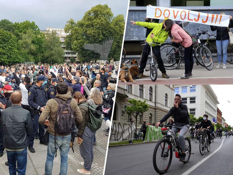 Protesti od Ljubljane do Berlina: »Kako veš, da imaš zanič vlado? Če še diaspora protestira proti njej!«
