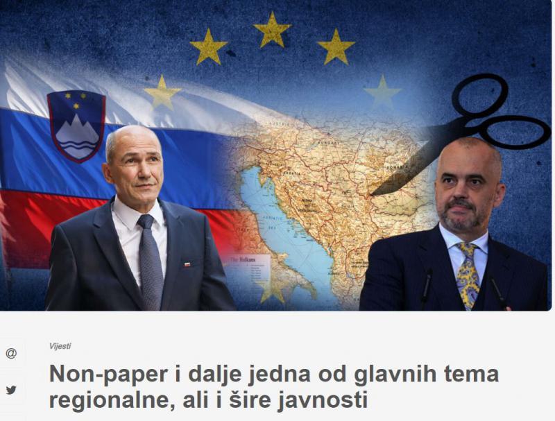 »Non paper«: Janša demantiral Ramo, Albanci pa navdušeni nad »slovenskim predlogom« nove razmejitve na Balkanu