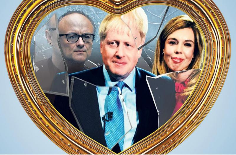 Žajfnica v Johnsonovem kabinetu: britanski premier zaradi mlade zaročenke ob svojega političnega rotvajlerja