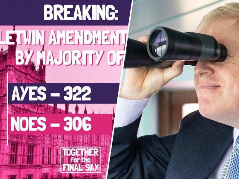 Bo Johnson obležal »mrtev v jarku«? Britanski parlament preložil potrditev sporazuma z EU