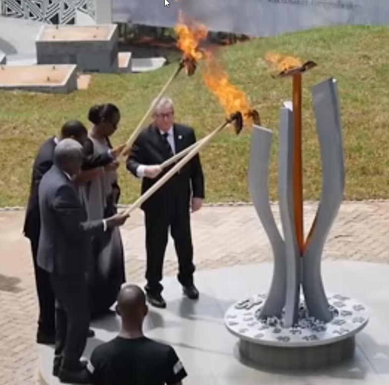 Juncker neroda: tokrat je skoraj zažgal prvo damo Ruande