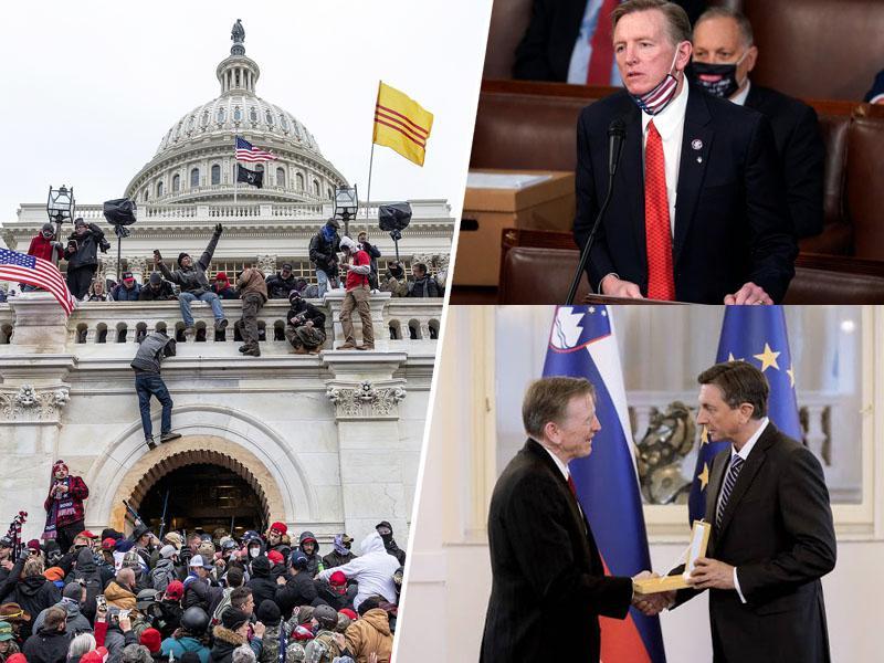 Arhitekti kaosa: vpad v Kapitol organizirali trije kongresniki, med njimi Pahorjev odlikovanec slovenskih korenin Paul Gosar