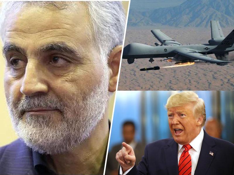 Nevarna zaostritev: po ukazu Trumpa z napadom drona ubit general Sulejmani, drugi najpomembnejši človek v Iranu