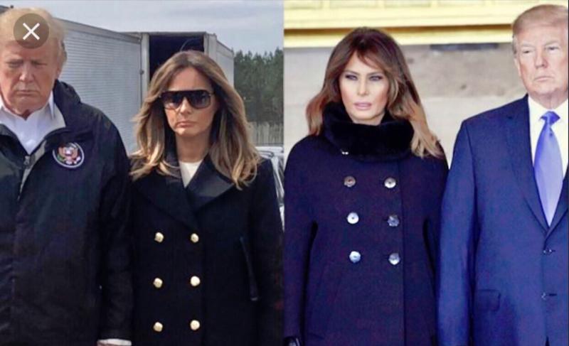 Trump ima dve Melanii. Lahko ugotovite, katera je prava?