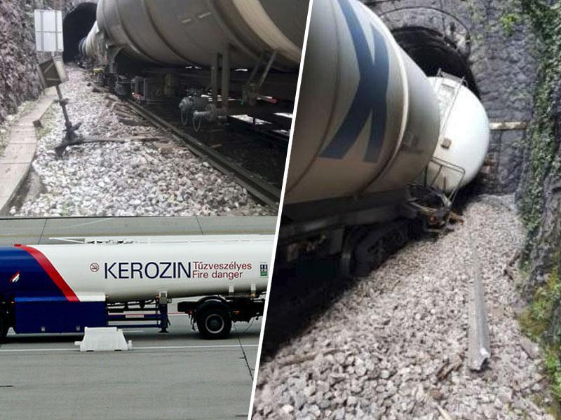 Rižana po iztirjenju vlaka čaka na 10.000 litrov kerozina, sanacija na Krasu pa nemogoča