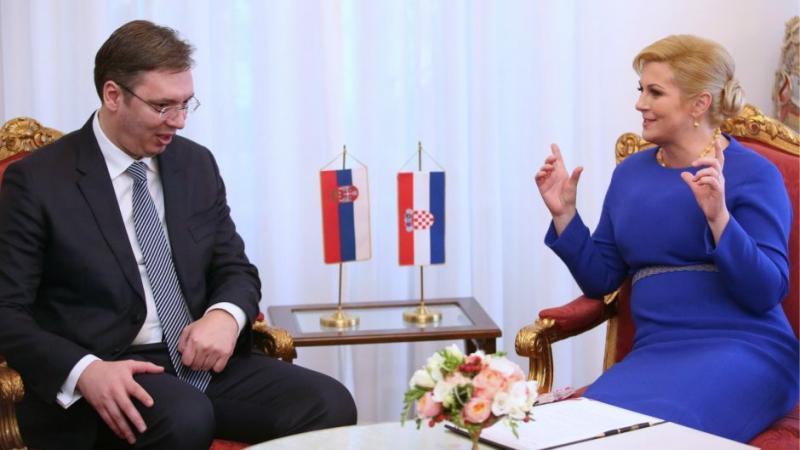 Grabar-Kitarovićeva in Vučić v Zagrebu o številnih spornih vprašanjih