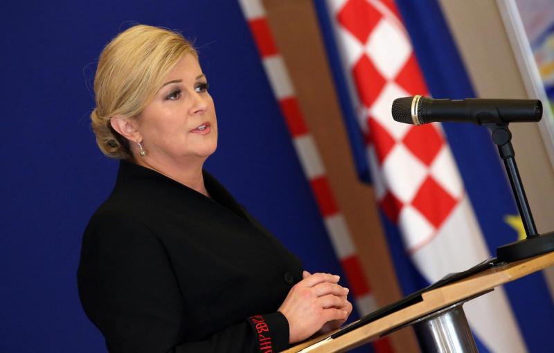 Hrvaška predsednica na seji VS ZN ostro kritizirala haaško sodišče