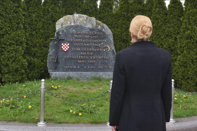 Pokazala pravi obraz: Kolinda ni prišla na proslavo dneva zmage, uspelo pa se ji je pokloniti ustašem v Bleiburgu