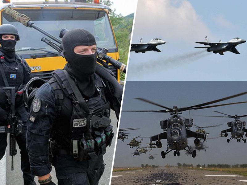 Sporočilo miru: Administrativno mejo s Kosovom preletavajo srbski MiG-i in helikopterji, na poti tudi tanki