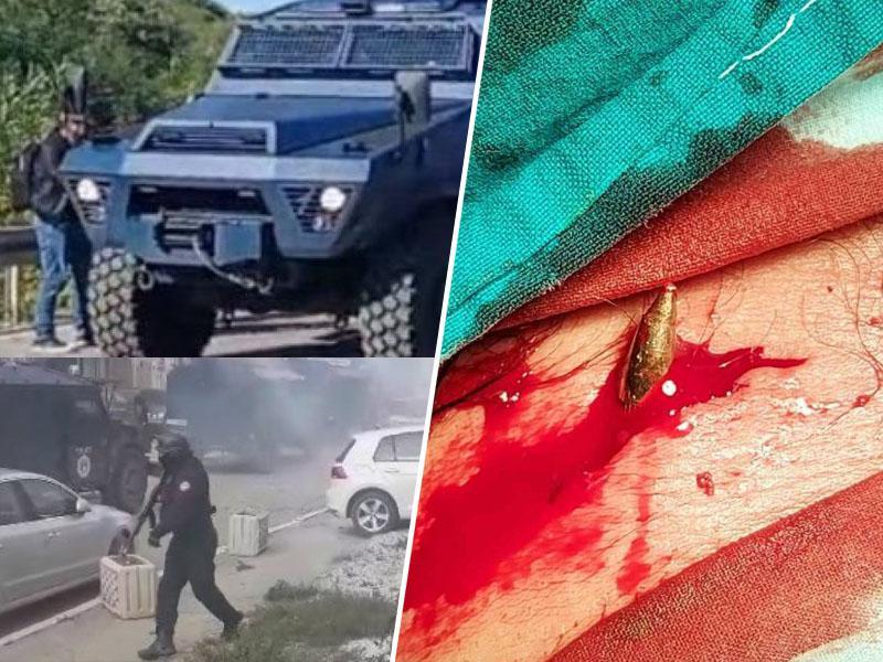 S strelnim orožjem na demonstrante: Albanska policija vpadla na sever Kosova in z rafali zasula Srbe