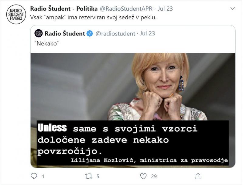 Ministrica Kozlovič: »Ženske tudi same s svojimi vzorci določene zadeve nekako povzročijo.«