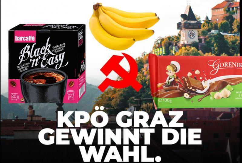 »Zdaj bodo iz Gradca hodili k nam po kavo, banane in čokolado. Aja, pa sadni jogurt!«