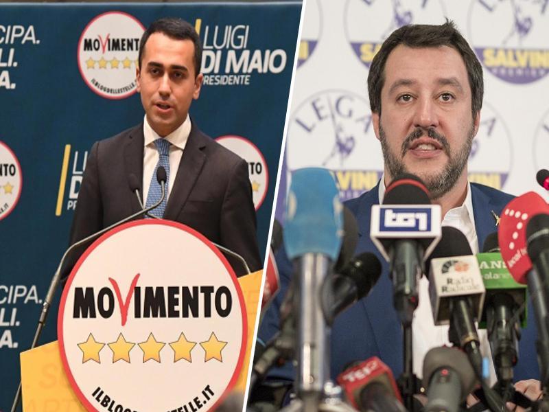 Di Maio in Salvini se že prepirata zaradi evropskega zavezništva ksenofobnih strank