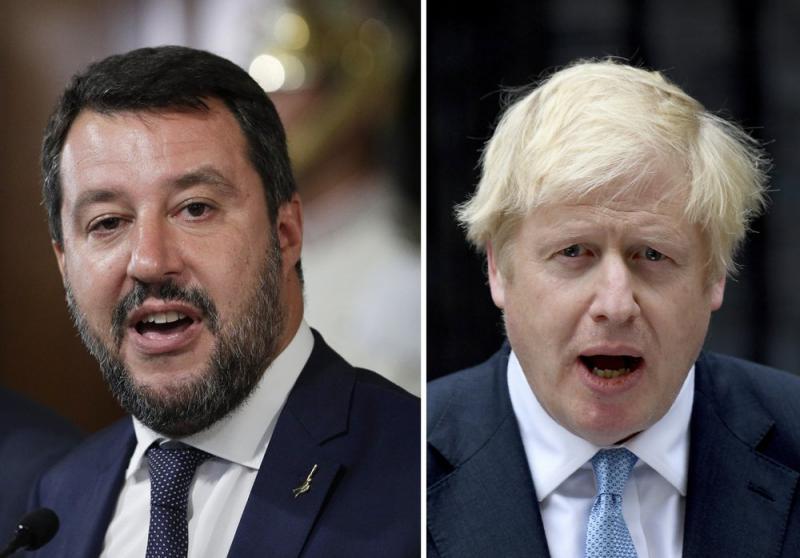Totalna luzerja: kako sta se preračunala Matteo Salvini in Boris Johnson
