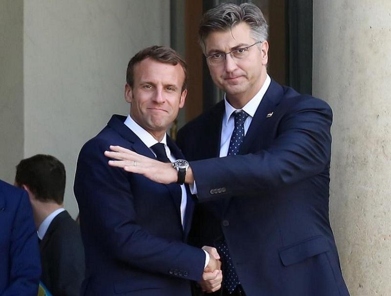 Macron in Plenković o vstopu Hrvaške v območje schengna