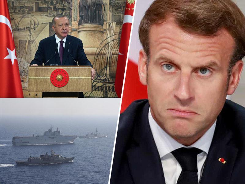 Erdoğan grozi Macronu: »Ne izzivajte Turčije!«