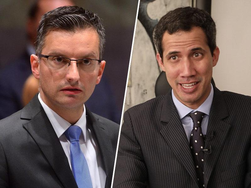 Šarčeva vlada prepoznala Guaidoja »za začasnega predsednika Venezuele«