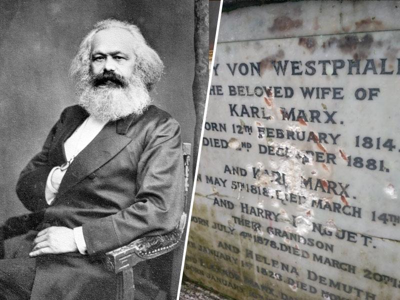 Vandalizem: oskrunjen Marxov grob, a za Revolucionarno mladino so njegove ideje še kako žive
