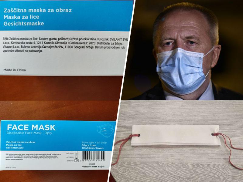Razkrivamo: V Sloveniji prodajajo maske iz »serviet« in gumic, v Srbiji pa prave maske kamniškega Svilanita