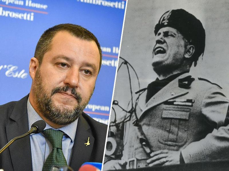 Salvini spet razburja: podpredsednik italijanske vlade citiral kontroverznega profašističnega pesnika