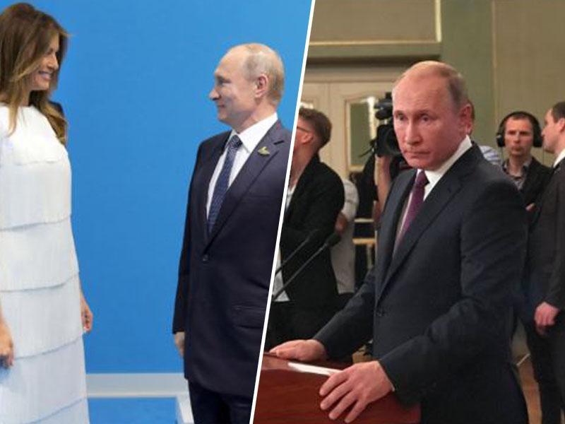 Ali je Melania flirtala s Putinom? Prvi človek Rusije zabrusil novinarjem, ko so ga spraševali o njej ...
