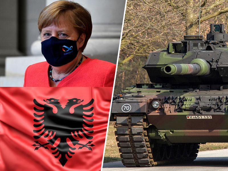 Angela Merkel dala »zeleno luč« za oboroževanje Kosova: želijo si tudi nemških topov in tankov