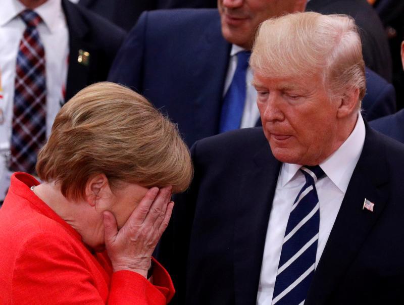 Neizobraženi Trump: Angela Merkel mu je morala 11-krat pojasnjevati osnove trgovanja z EU