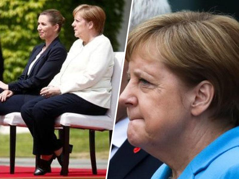 Kršitev protokola: po treh epizodah tresavice Angela Merkel dansko predsednico vlade pričakala kar na stolu