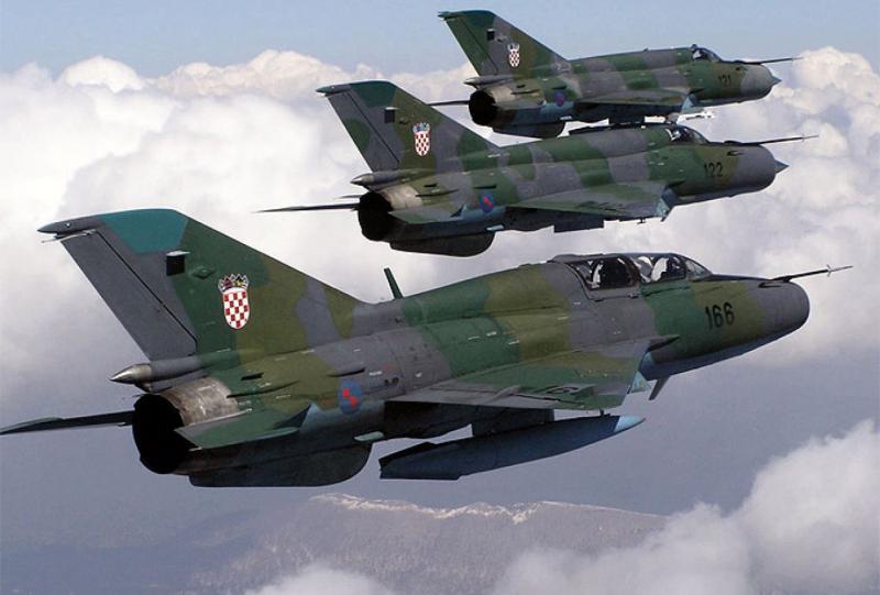 Hrvaška MiG-a prestregla izraelsko letalo v zračnem prostoru Hrvaške
