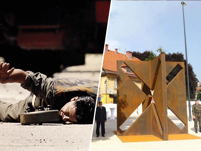 Laži osamosvojitve (6): Kako so »branilci Ljubljane« ženski poslali med protitankovske mine in dobili spomenik