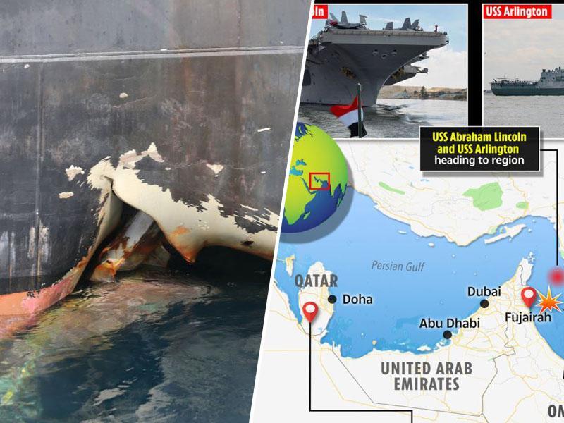 So tankerje, ki prevažajo savdsko nafto, v Perzijskem zalivu napadli z daljinsko vodenimi plovili?