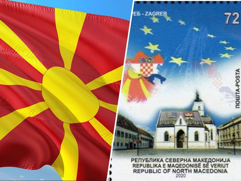 Diplomatski protest uspel: Pošta Severne Makedonije umaknila znamko z zemljevidom NDH, izdane na Dan Evrope