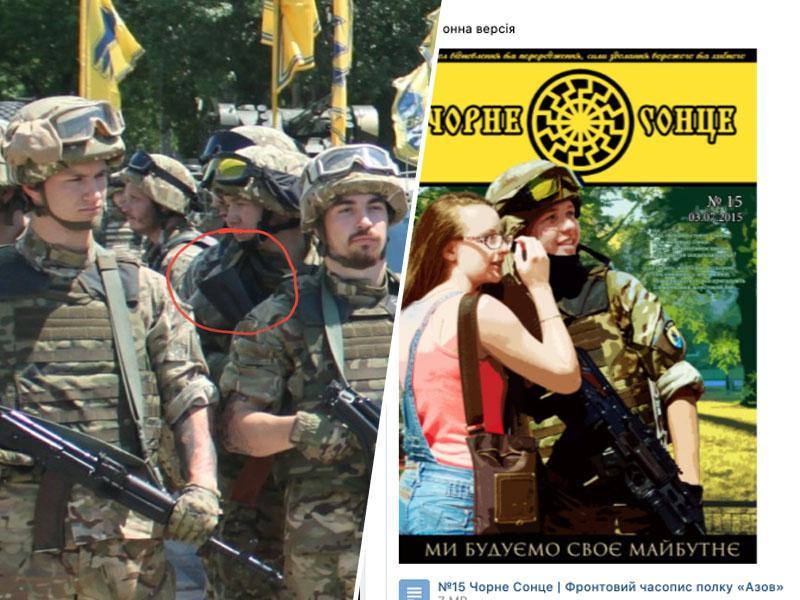 Protasevič slikan s puško kot del neonacističnega bataljona Azov, časnik Times to informacijo - cenzuriral