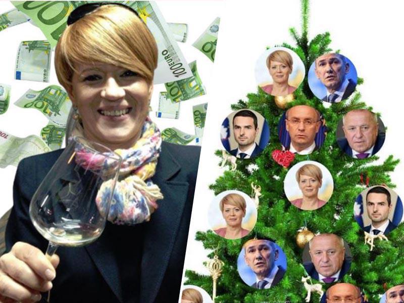 Pivčeva na tnalu: »Torej, v Vatikan bomo nesli sto jurjev za božične okraske?«
