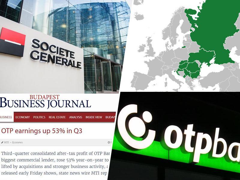 Banka OTP s prevzemi bank v regiji zvišuje čisti dobiček