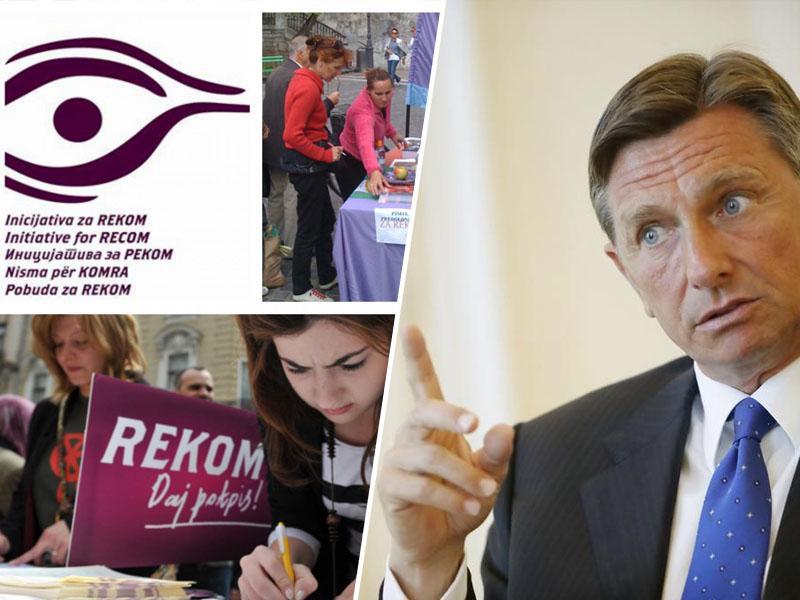 Licemerno: Pahor v BiH pozval, »naj več vlagajo v spravo«, ki jo je z umikom Slovenije iz pobude REKOM sam zavrnil