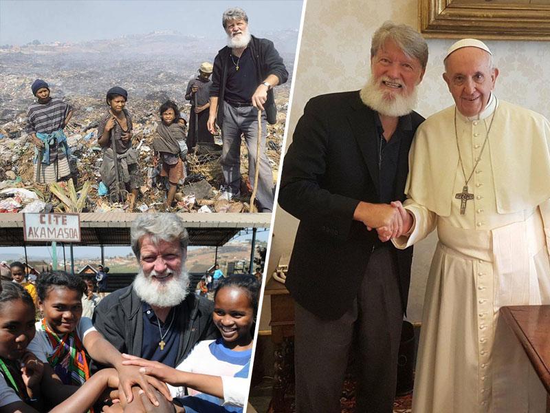 Papež Frančišek na Madagaskarju tudi pri slovenskem misijonarju Pedru Opeki