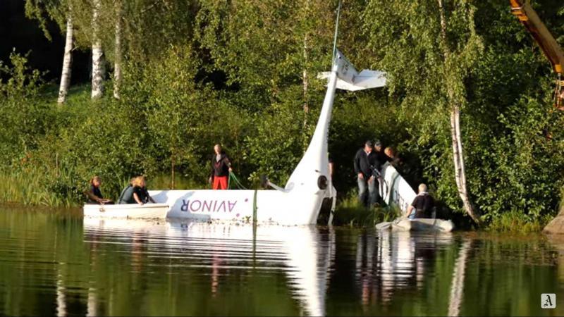 Pipistrelovo električno letalo skupaj z državno sekretarko strmoglavilo v jezero