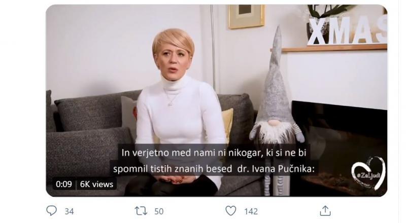 Spektakularna napaka: Aleksandra Pivec pohvalila Pučnika in »se ustrelila v koleno«