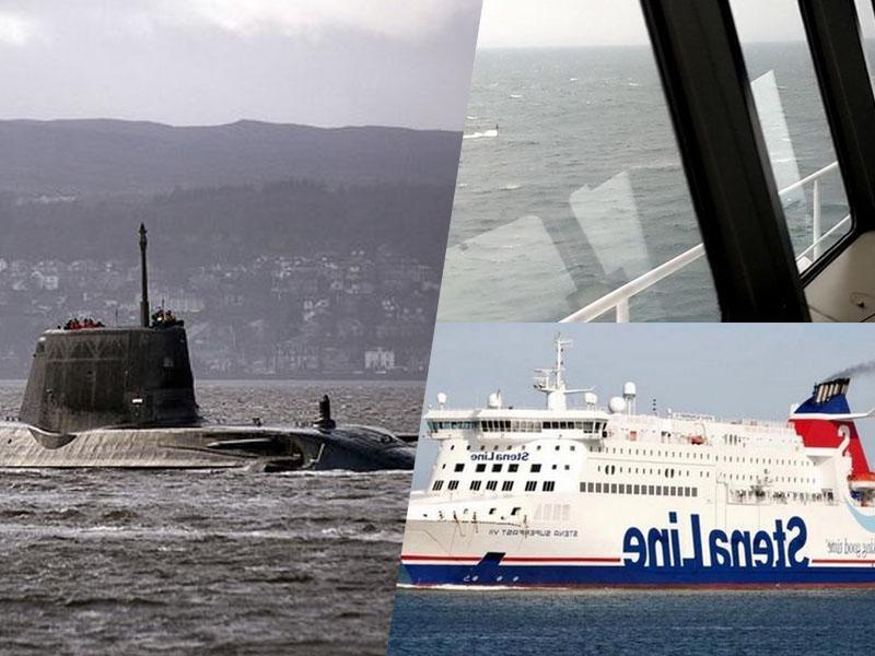 Sreča: Kapitan videl periskop in preprečil trčenje jedrske podmornice in potniške ladje