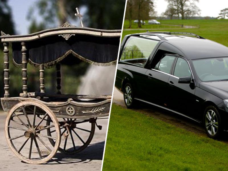 Od konjske vprege do najnovejšega Mercedesa - zadnja vožnja pokojnika