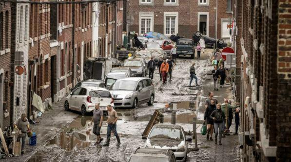 Apokaliptične scene iz poplavljenih območij Evrope, katastrofa posledica klimatskih sprememb